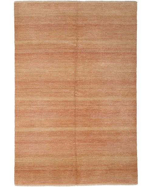 """Timeless Rug Designs CLOSEOUT! One of a Kind OOAK2671 Peach 6'1"""" x 9'4"""" Area Rug"""