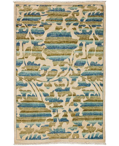 """Timeless Rug Designs CLOSEOUT! One of a Kind OOAK3330 Sage 4'1"""" x 6'3"""" Area Rug"""