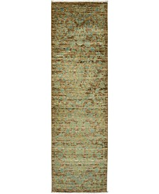 "CLOSEOUT! One of a Kind OOAK3276 Mocha 3' x 9'10"" Runner Rug"