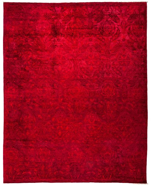 "Timeless Rug Designs CLOSEOUT! One of a Kind OOAK3010 Red 8'1"" x 10'1"" Area Rug"