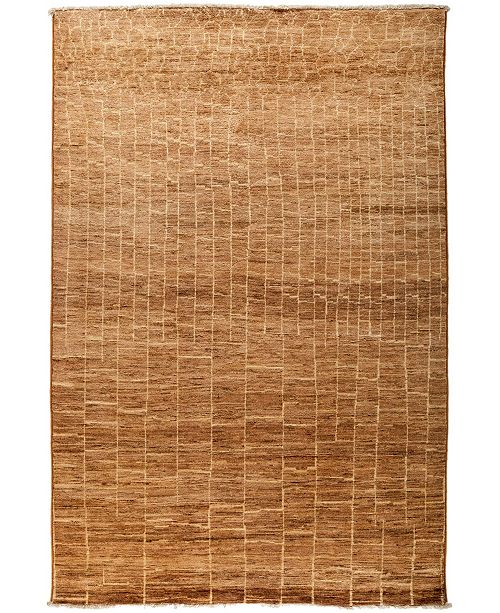 "Timeless Rug Designs One of a Kind OOAK3076 Cocoa 6' x 8'10"" Area Rug"