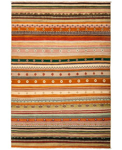 """Timeless Rug Designs CLOSEOUT! One of a Kind OOAK3065 Caramel 6'1"""" x 8'9"""" Area Rug"""