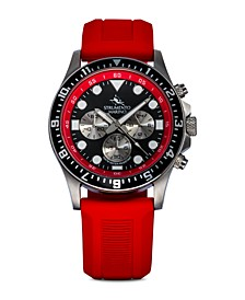 Men's Typhoon Red Silicone Performance Timepiece Watch 45mm