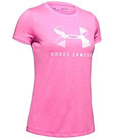 Big Girls Twist Logo-Print T-Shirt