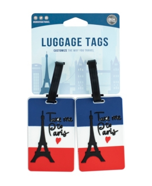 Bon Voyage City Themed 2-Pc. Luggage Tag Set
