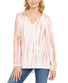 Tie-Dye Peasant Top, Created for Macy's