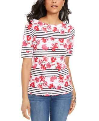 Printed Boat-Neck Top, Created for Macy's