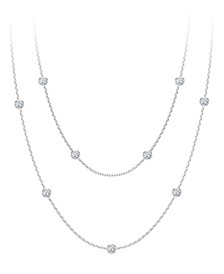 Tribute™ Collection Diamond (7/8 ct. t.w.) Round Double Necklace in 18k Yellow, White and Rose Gold