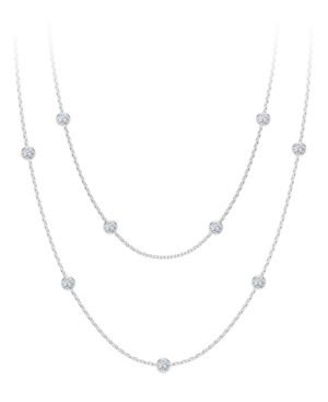Forevermark Tribute Collection Diamond (7/8 ct. t.w.) Round Double Necklace in 18k Yellow