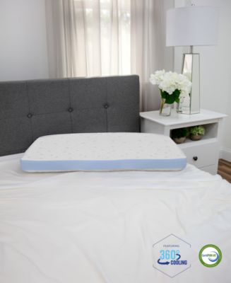Cold Touch Gusseted Gel-Infused Memory Foam Pillow - King