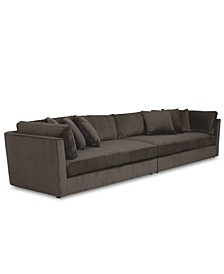 Drale 2-Pc. Fabric Sectional Sofa, Created for Macy's