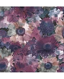 Midnight Garden Lilac Wallpaper