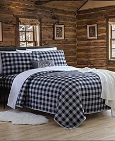 Blanket Sheet Set with Reversible Faux Mink Flat Sheet - King