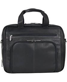 Colombian Leather Double Gusset Laptop Briefcase