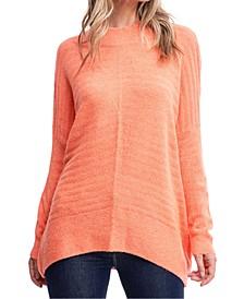 Mock-Neck Textured Sweater