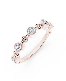 Tribute™ Collection Diamond (1/2 ct. t.w.) Ring With Beaded Detail In 18 Yellow, White and Rose Gold