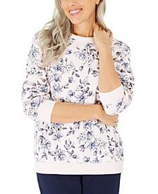 Serene Printed Fleece Sweatshirt, Created for Macy's