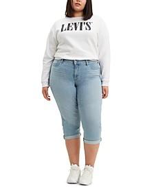 Trendy Plus Size Shaping Capri Jeans