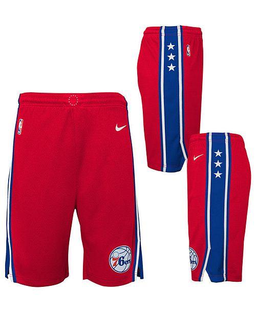 Nike Big Boys Philadelphia 76ers Statement Swingman Shorts