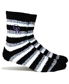 Colorado Rockies Fuzzy Steps Socks