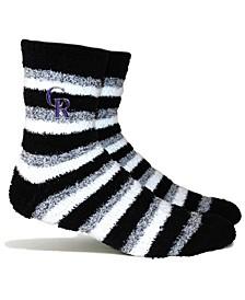 Colorado Rockies Fuzzy Steps Socks