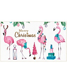 Merry Flamingos Accent Rugs