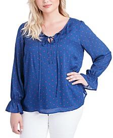 Trendy Plus Size Sassie Blouson Blouse