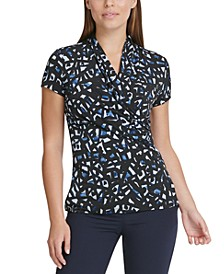 Printed Ruched Top