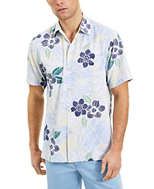Men's Burma Botanical Classic-Fit IslandZone Moisture-Wicking Temperature-Regulating Tropical-Print Camp Shirt