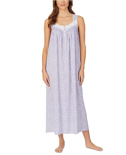 Eileen West Printed Venise Lace Ballet Nightgown