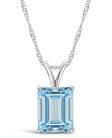 Sky Blue Topaz (3  ct. t.w.) Pendant Necklace in Sterling Silver. Also Available in Rose Quartz