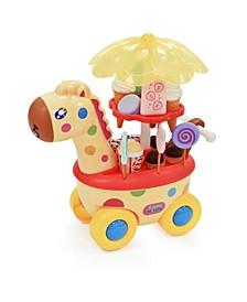 Giraffe Candy Ice Cream Food Cart Walker