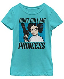 Star Wars Big Girl's Don'T Call Me a Princess Short Sleeve T-Shirt