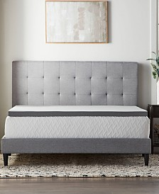 """2"""" Bamboo Charcoal Memory Foam Topper Collection"""