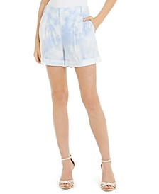 INC Tie-Dye Linen-Blend Shorts, Created for Macy's