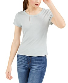 Juniors' Lace-Trim T-Shirt