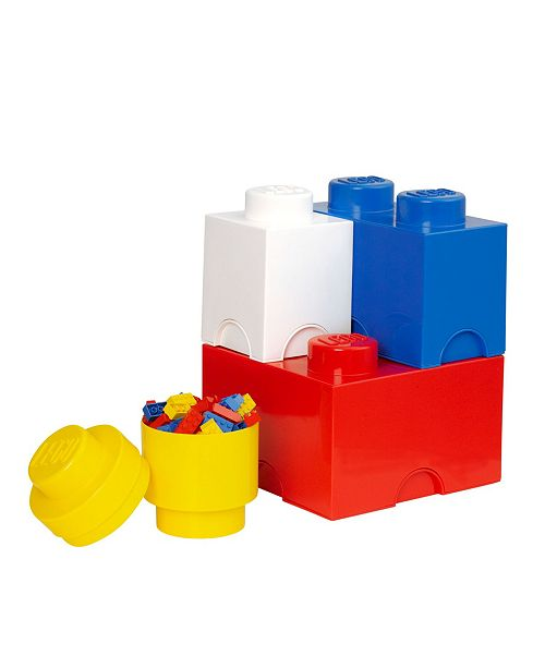 Room Copenhagen Lego Storage Brick Multi Pack 4 Piece