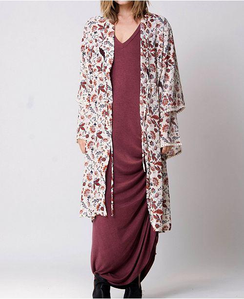 Wanderlux Tiered Sleeves Palma Kimono