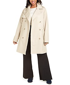 Plus Size Belted-Waist Trench Coat, Created for Macy's