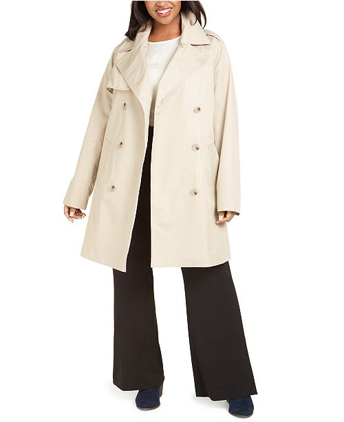 Charter Club Plus Size Belted-Waist Trench Coat, Created For Macy's