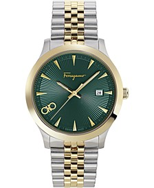 Men's Swiss Duo Two-Tone Stainless Steel Bracelet Watch 40mm