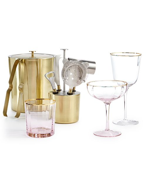 Martha Stewart Collection Glassware & Barware Collection, Created for Macy's