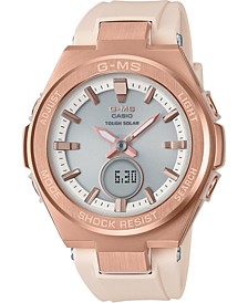 Women's Solar Analog-Digital Blush Resin Strap Watch 38.7mm