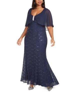 1930s Art Deco Plus Size Dresses | Tea Dresses, Party Dresses R  M Richards Plus Size Capelet Gown $139.00 AT vintagedancer.com