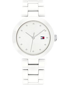 Women's White Ceramic Bracelet Watch 32mm