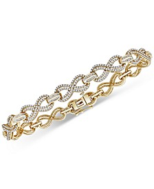 Diamond Infinity Link Bracelet (2 ct. t.w.) in Gold-Plated Sterling Silver, Created For Macy's