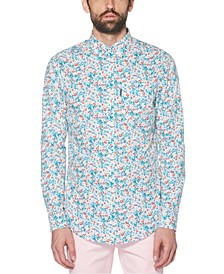 Men's Slim-Fit Stretch Floral Ditsy Shirt