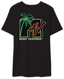 Mtv Neon Light Men's Graphic T-Shirt