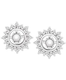 Diamond Sunburst Earring Jackets (1/3 ct. t.w.) in 14k White Gold