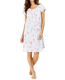 Cabbage-Rose Print Nightgown